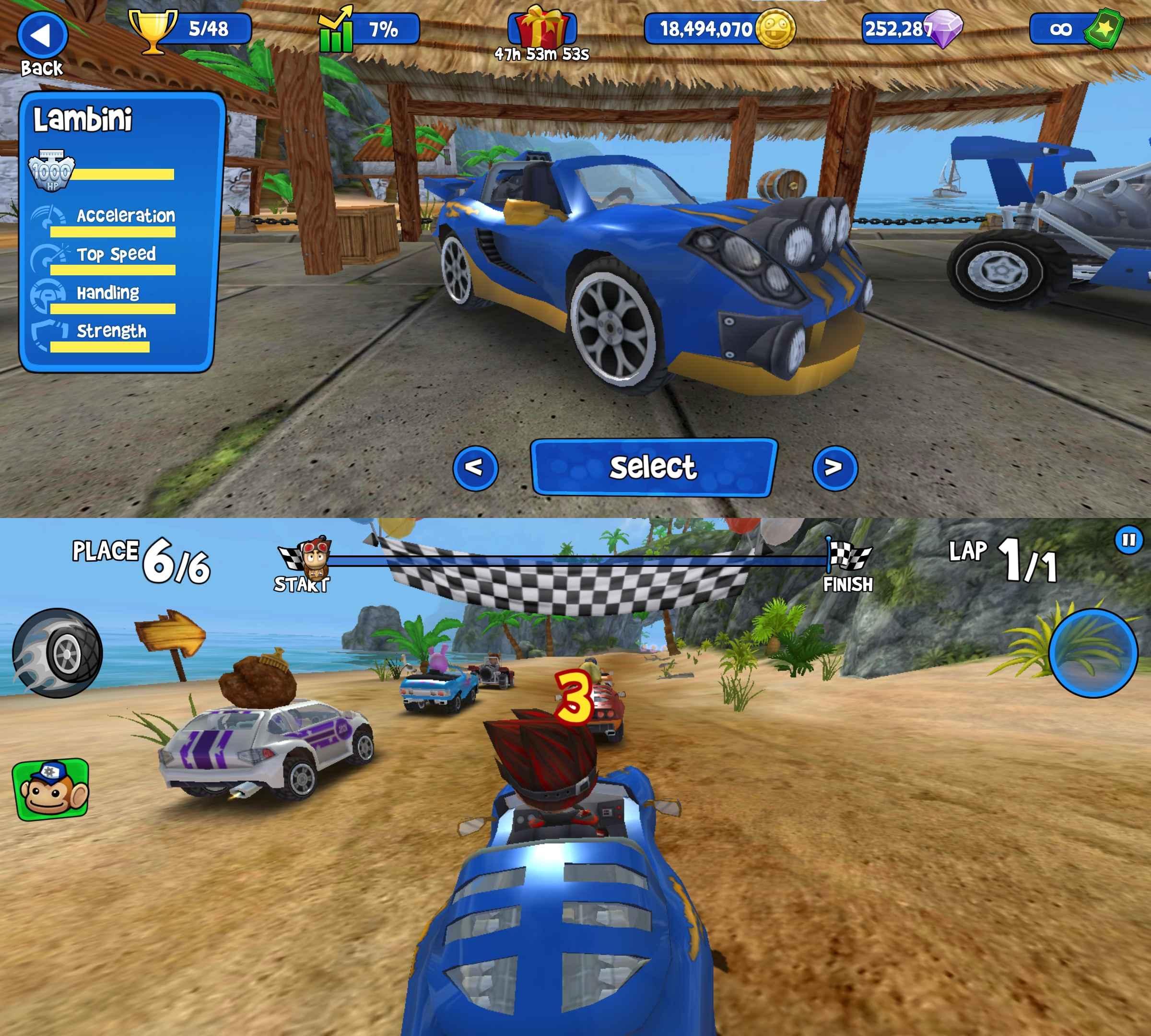 安卓游戏沙滩竞速破解版截图1
